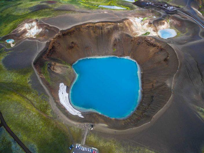 Iceland by Drone Krafla Viti
