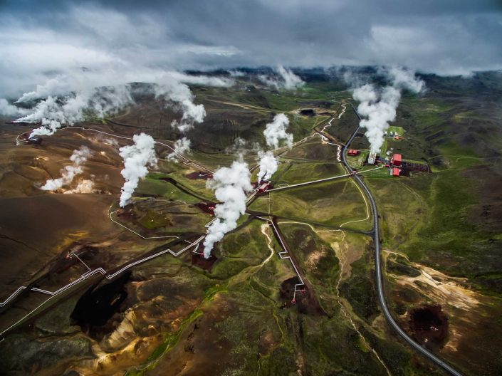 Iceland by Drone Krafla Power Station
