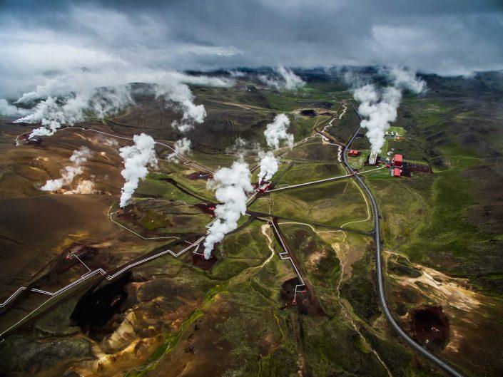 Iceland by Drone Krafla Power Station