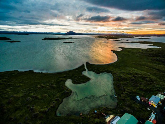 Iceland by Drone Myvatn