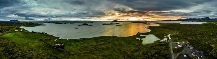 Iceland by Drone Jökulsárlón Panorama Myvatn Panorama