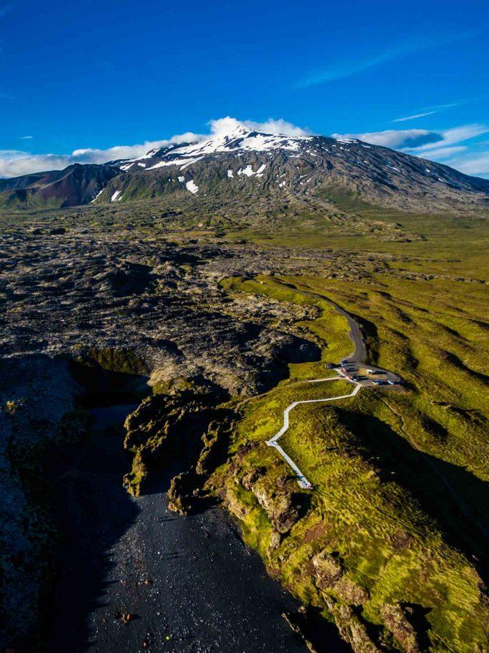 Iceland by Drone Snæfellsjökull Glacier