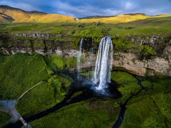 Iceland by Drone Seljalandsfoss