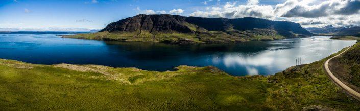 Iceland by Drone Álftafjörður Fjord