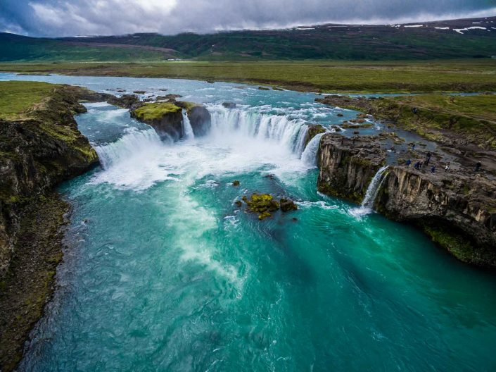 Iceland by Drone Godafoss I