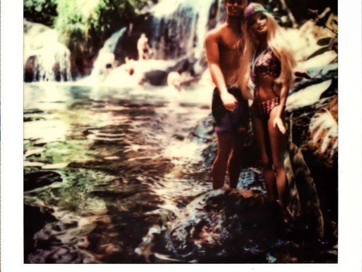 Barbie Around the World Polaroid El Nicho Waterfalls