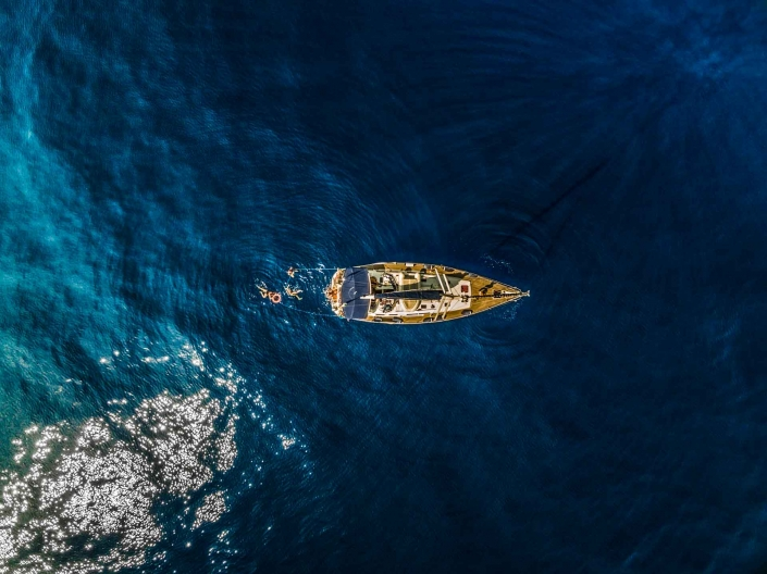 Tuscany sea taken by the drone