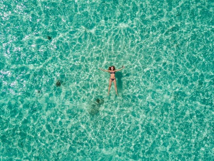 Aerial Photography Mary in the Blue