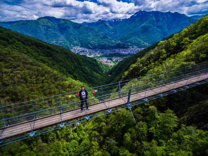 Aerial Photography: Ponte Tibetano Monte Carasso