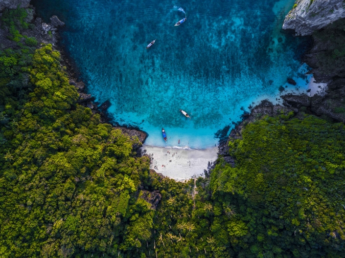 Aerial Photography Mary in the Blue The Jungle Beach