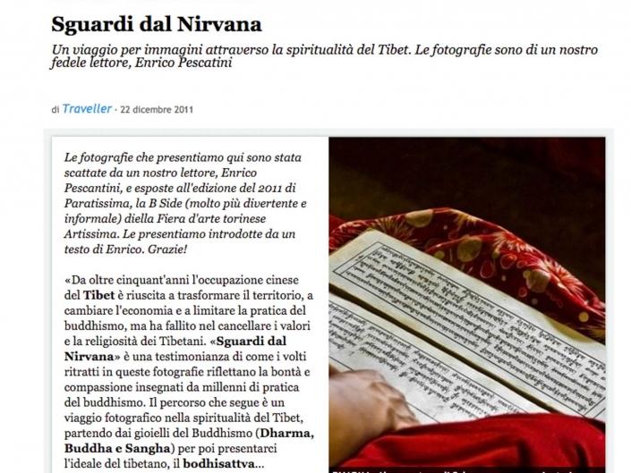 Sguardi dal Nirvana on CondeNast Traveller
