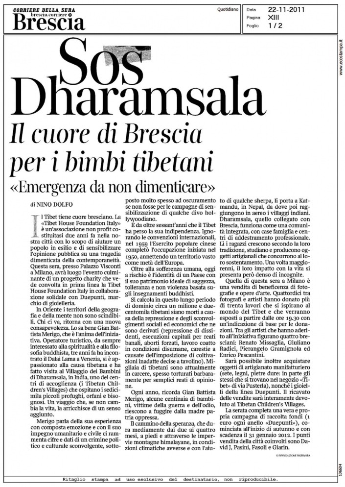 Sguardi dal Nirvana on Corriere della Sera