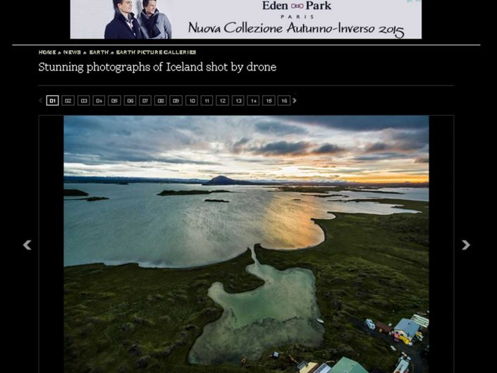 iceland by drone telegraph