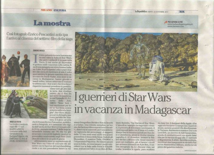 Star Wars Madagascar Family Time on La Repubblica