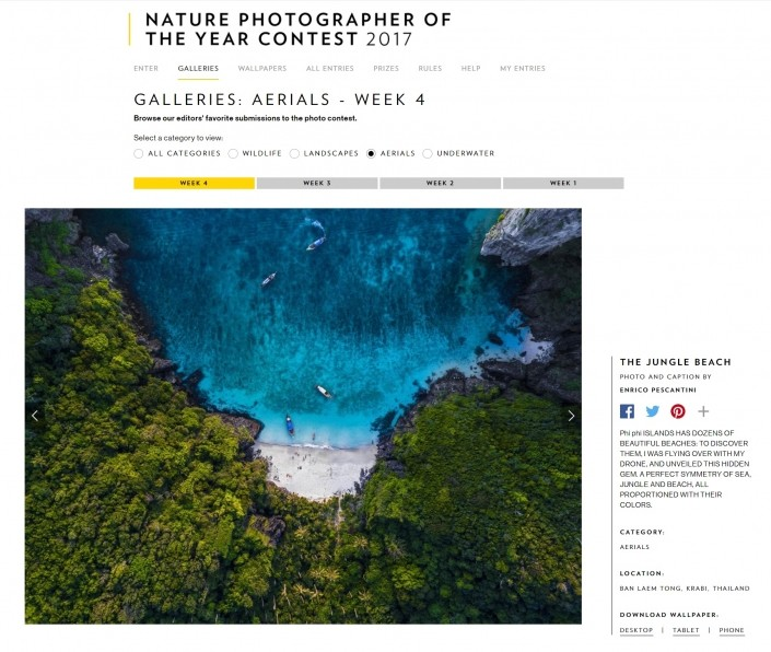 The Jungle Beach published on National Geographic