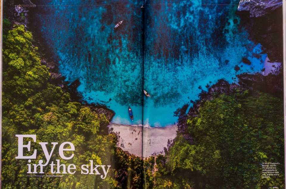 Phi Phi Islands Aerial reportage on Sawasdee Thai Airways' inflight magazine!