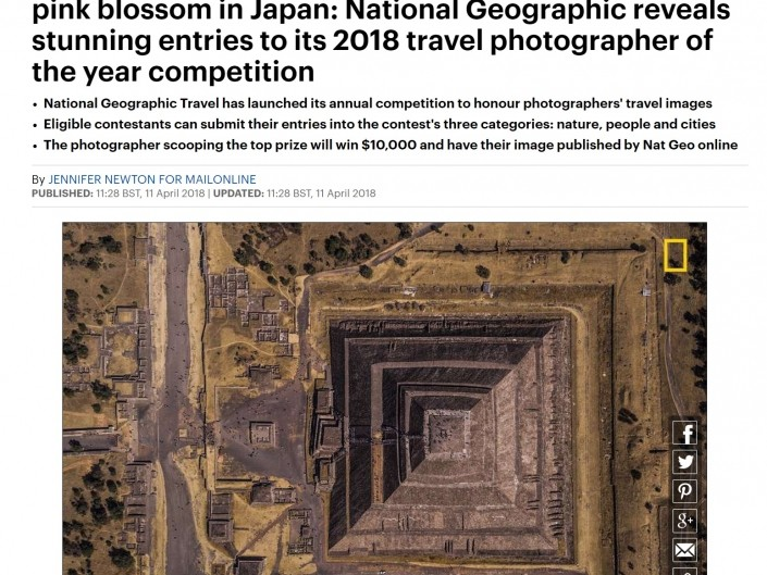 DAILY MAIL National Geographic Travel Photographer of the Year Enrico Pescantini Geometry of the Sun 2018