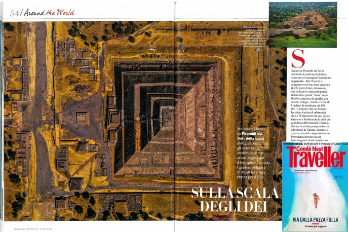 Geometry of the Sun Teotihuacan Piramide Traveller Conde Nast Vanity Fair Enrico Pescantini