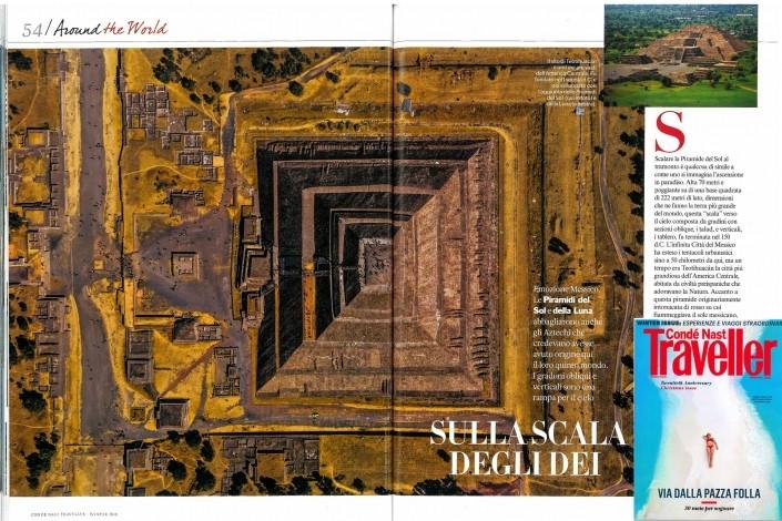 Geometry of the Sun Teotihuacan Piramide Traveller Conde Nast Vanity Fair Enrico Pescantini