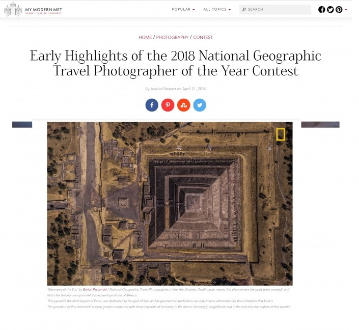 MODERN MET National Geographic Travel Photographer of the Year Enrico Pescantini Geometry of the Sun 2018