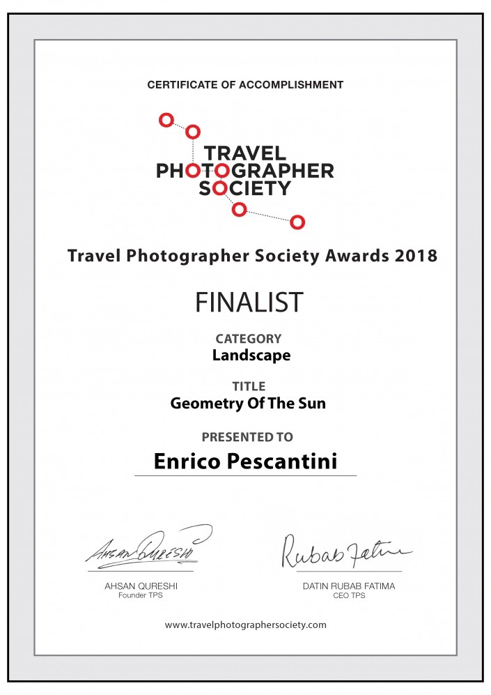 Travel Photography Society Awards 2018 finalist Enrico Pescantini