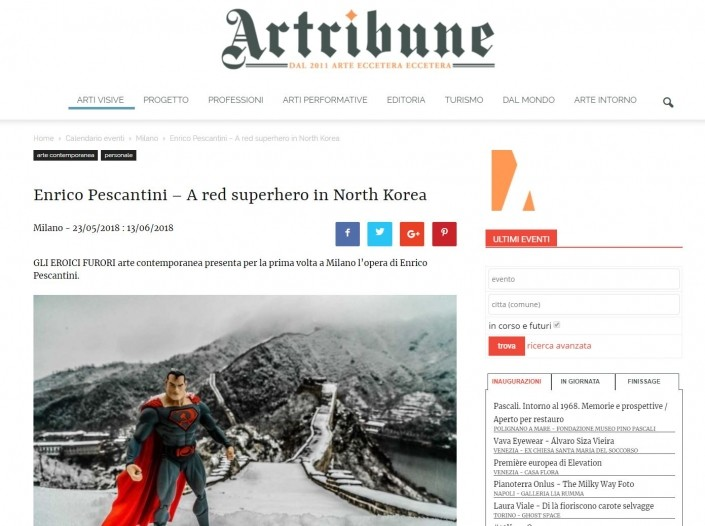 A Red Superhero in North Korea Panorama Enrico Pescantini Arttribune