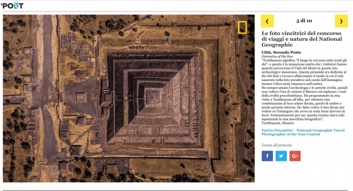 National Geographic Travel Photographer of the year 2018 Cities Winner Geometry of the Sun Enrico Pescantini il post
