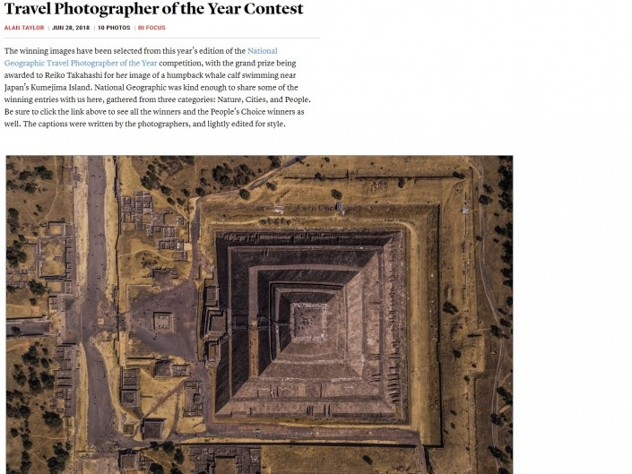 National Geographic Travel Photographer of the year 2018 Cities Winner Geometry of the Sun Enrico Pescantini THE ATLANTIC