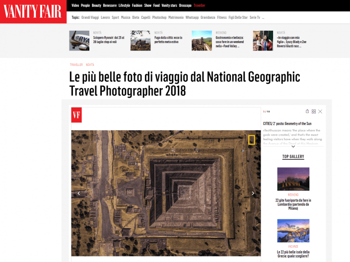 National Geographic Travel Photographer of the year 2018 Cities Winner Geometry of the Sun Enrico Pescantini VANITY FAIR ITALIA