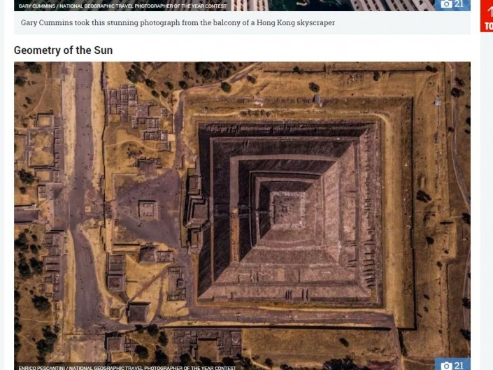 National Geographic Travel Photographer of the year 2018 Cities Winner Geometry of the Sun Enrico Pescantini THE SUN