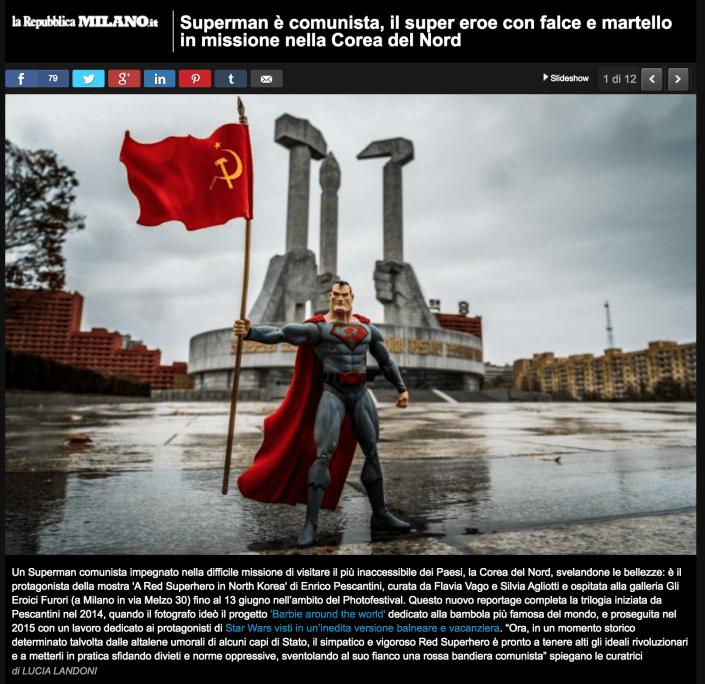 A Red Superhero in North Korea Enrico Pescantini Repubblica Milano superman in north korea