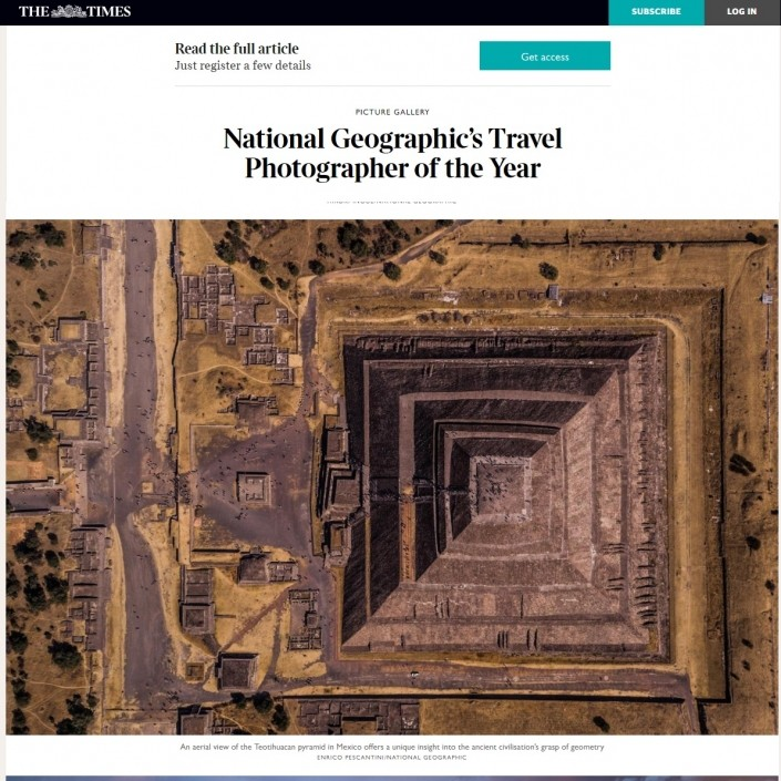 THE TIMES National Geographic Travel Photographer of the Year Enrico Pescantini Geometry of the Sun 2018