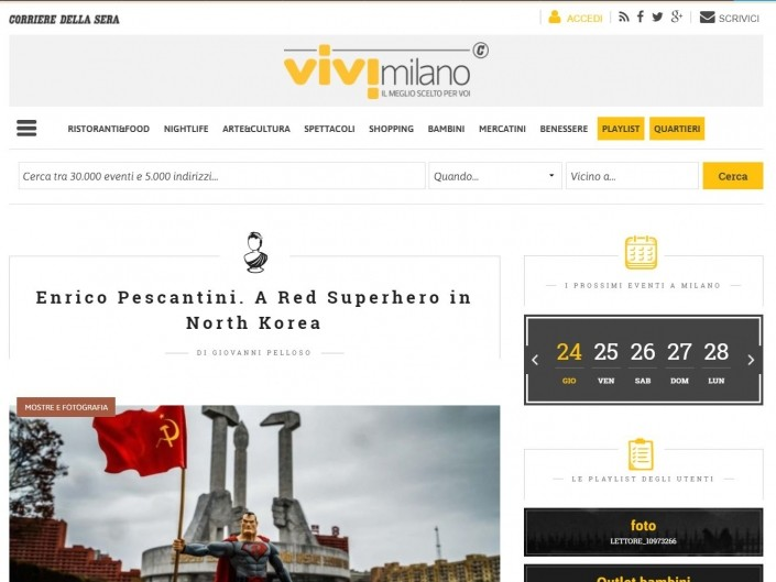 A Red Superhero in North Korea Panorama Enrico Pescantini Vivimilano Corriere