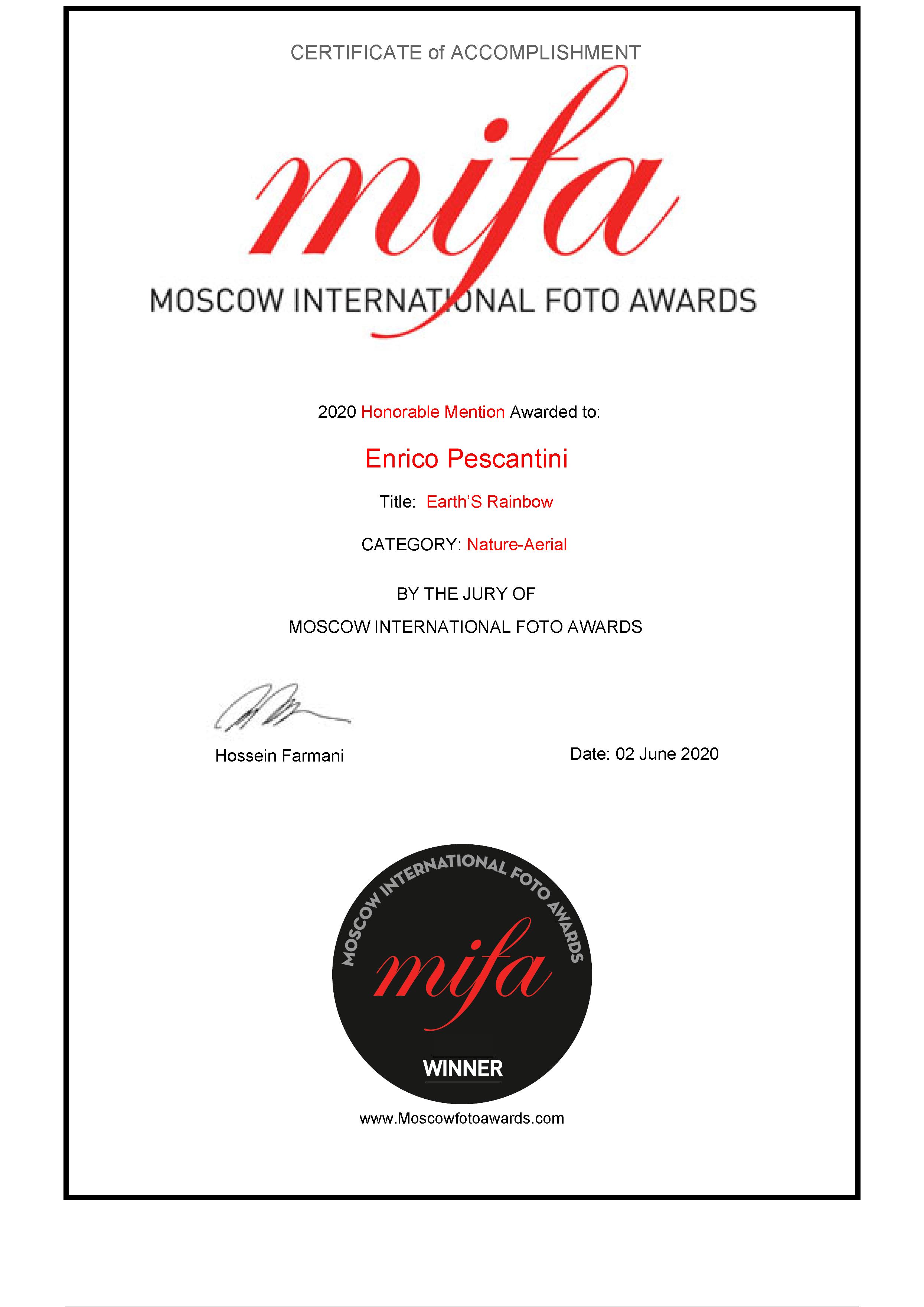 2020 Moscow Photo Awards MIFA Earth's Rainbow