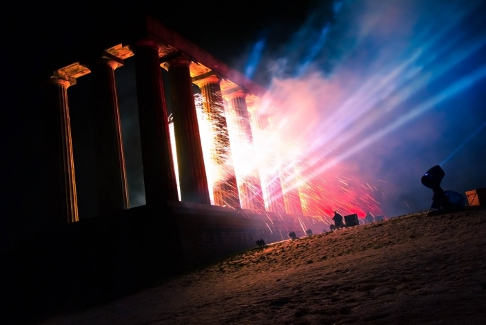 World PescArt Photo - Ancient Fire, Edinburgh, Scotland