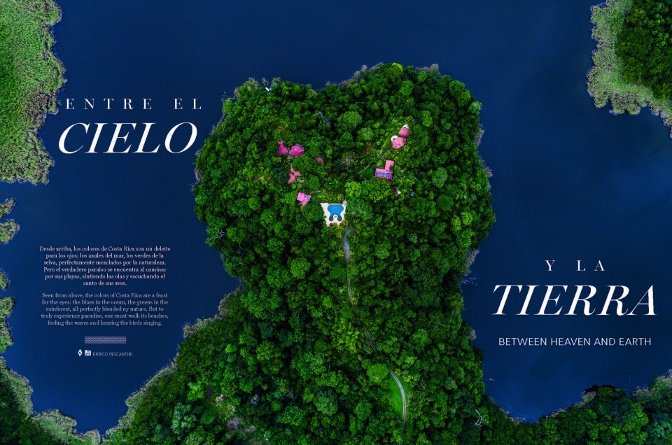 Aeromexico Accent magazine publishes Costa Rica From Above!