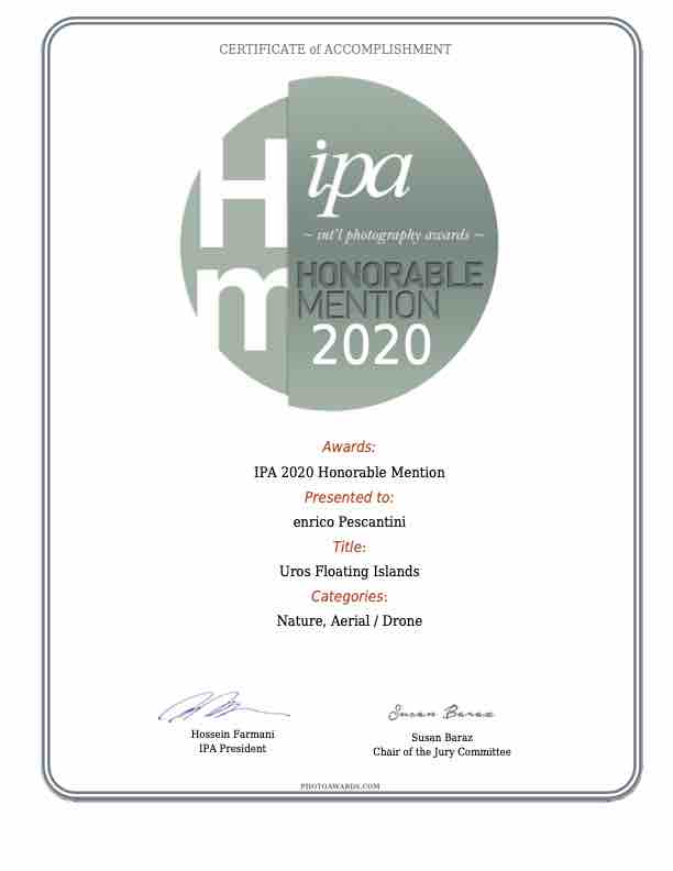 ipa honorable mention uros islands