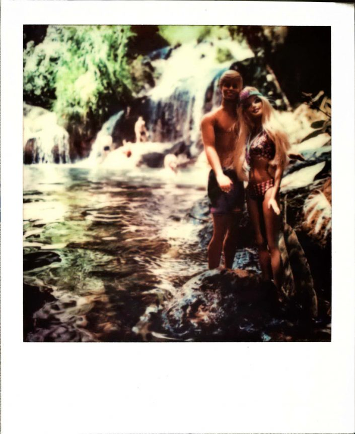 Barbie Around the World Polaroid El Nicho Waterfalls