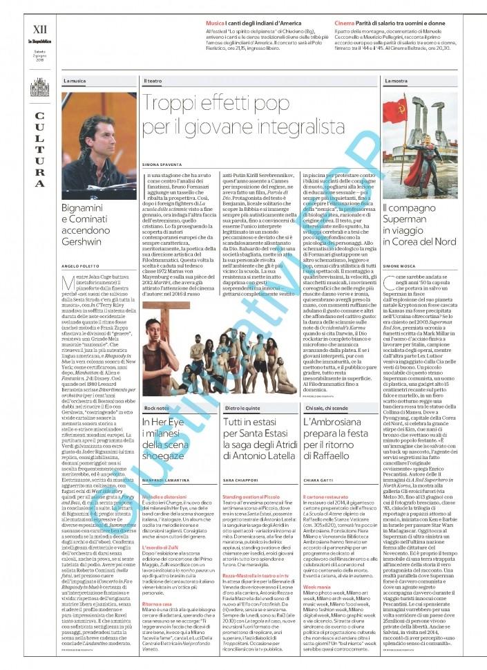 A Red Superhero in North Korea Repubblica Milano articolo