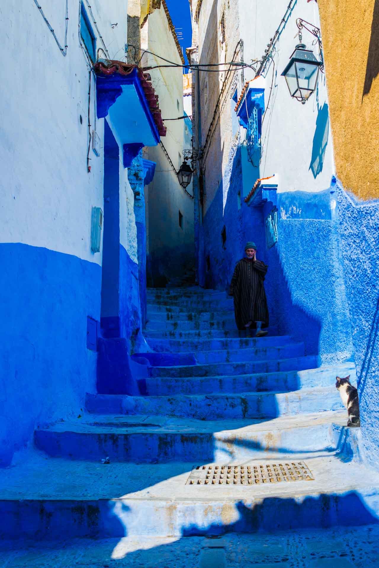 Morocco Chefchaouen blue stairs, morocco, chefchaouen, , pescart, photo blog, travel blog, blog, photo travel blog, enrico pescantini, pescantini