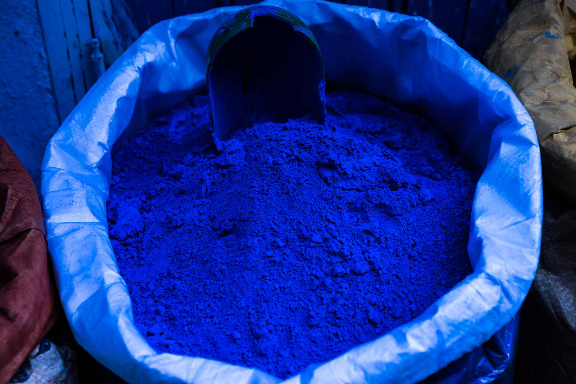 Morocco Chefchaouen blue powder