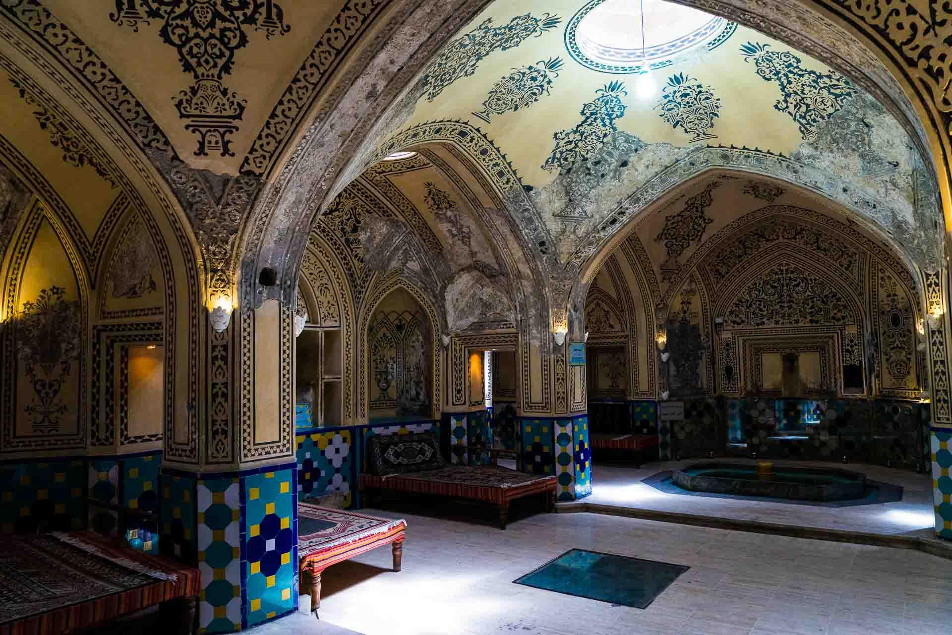 Sultan Amir Ahmad Bathhouse inside, kashan, iran, pescart, photo blog, travel blog, blog, photo travel blog, enrico pescantini, pescantini
