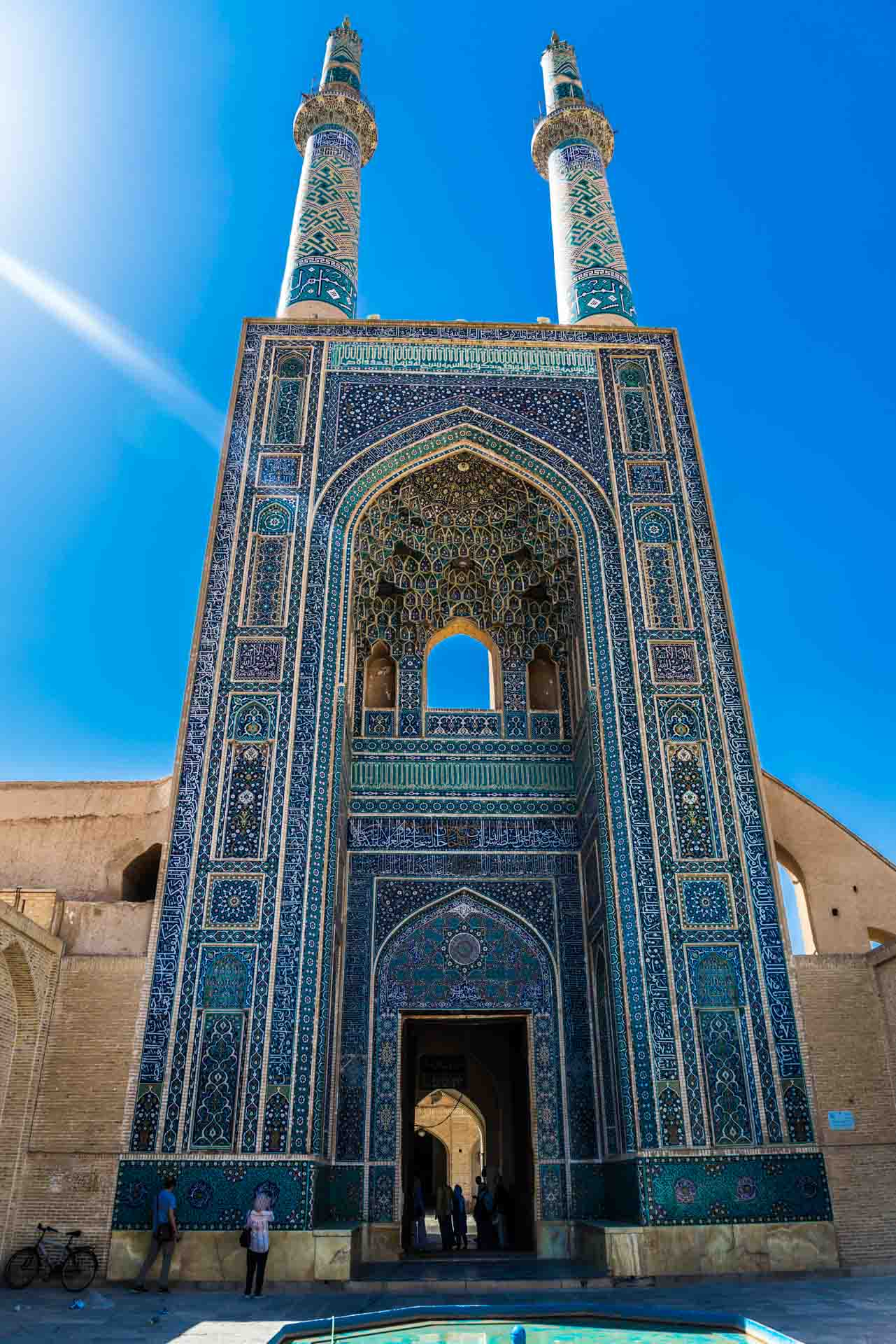 Yazd Jame Mosque entrance