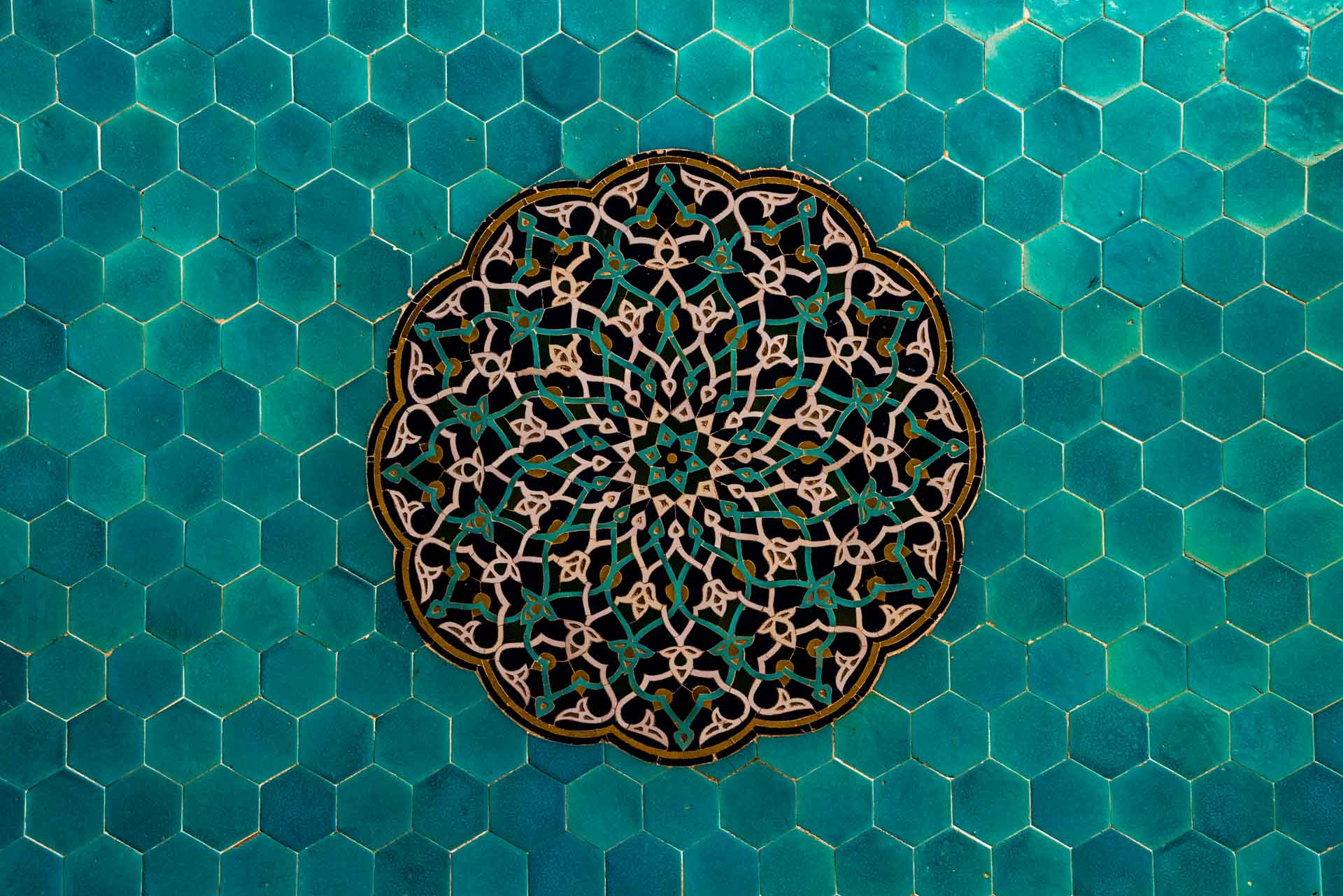 Yazd Jame Mosque tile work