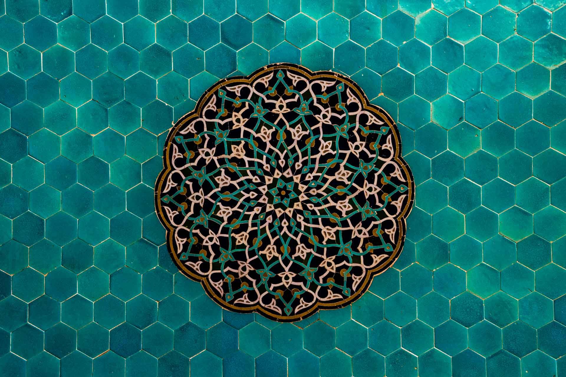 Yazd Jame Mosque tile work