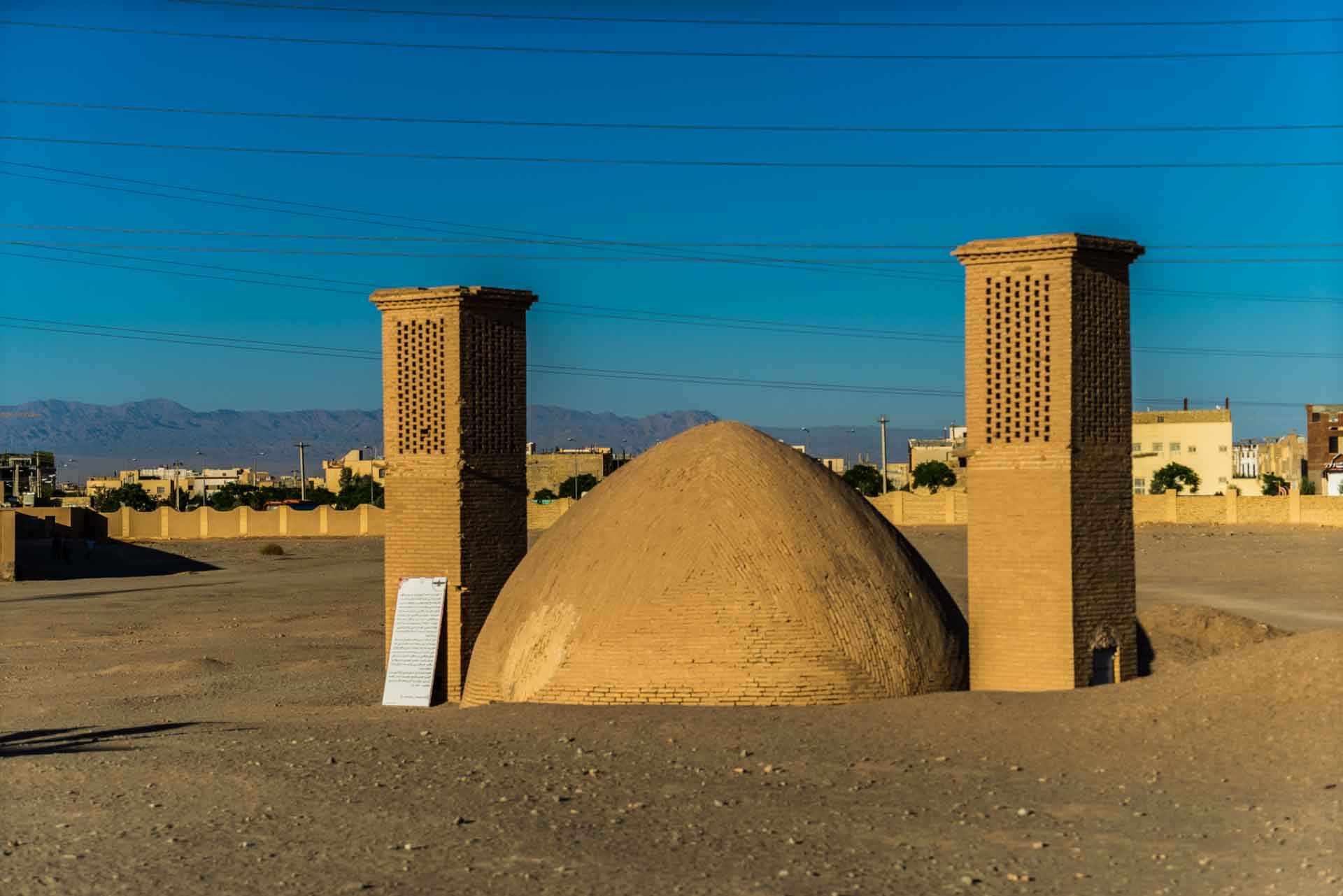 Yazd Windcatcher towers 2
