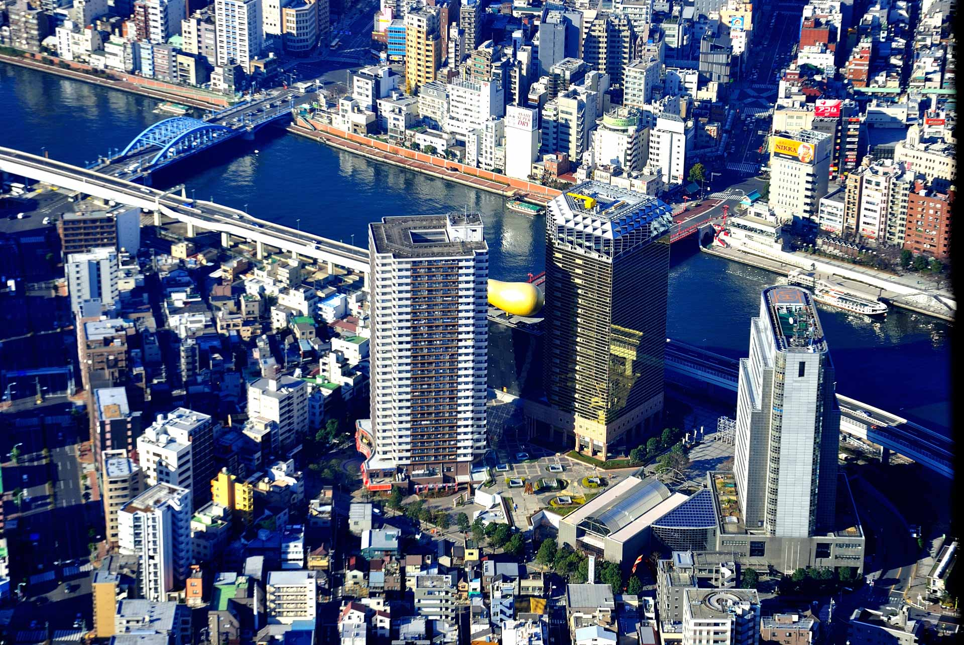 Tokyo, Japan - golden turd from above