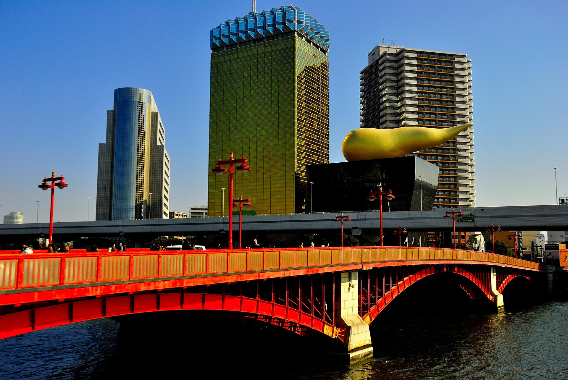 Tokyo, Japan -Asahi Flame Asakusa and Golden Turd