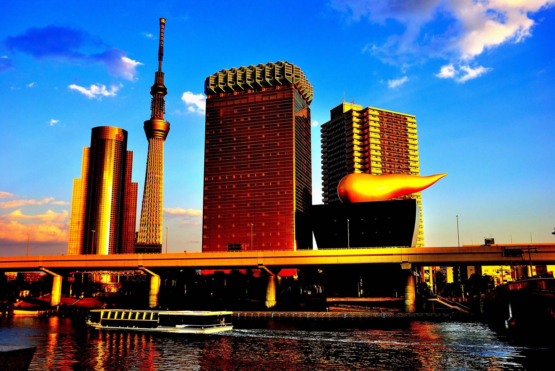 Tokyo, Japan -Asahi Flame Asakusa and Golden Turd 2