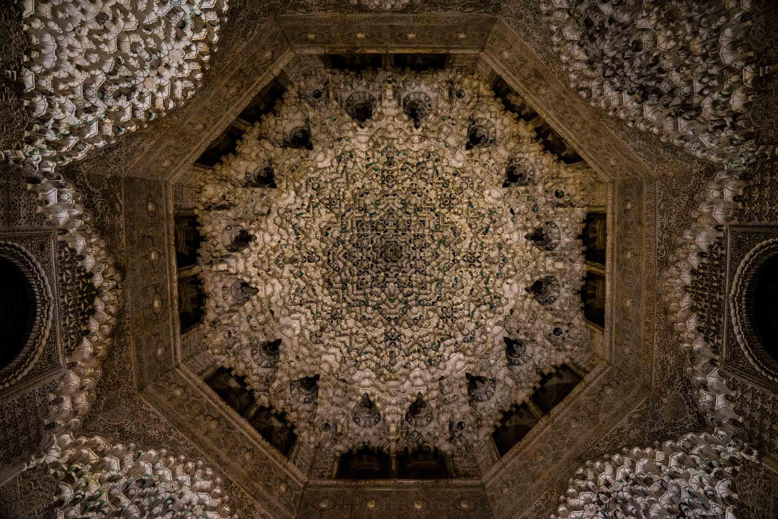 Granada Alhambra - by night - dome